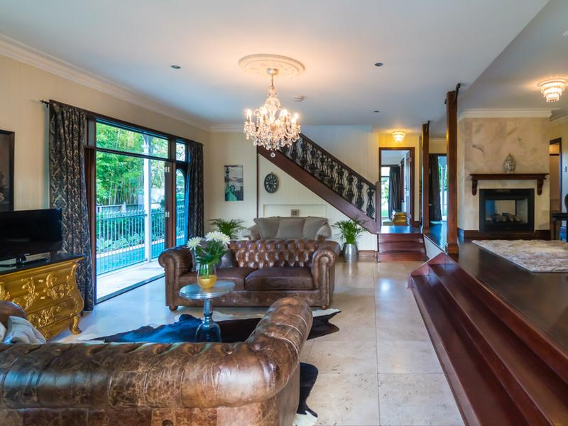 Creating a grand entrance into the living space.