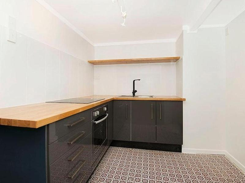 Turning a corner space into a kitchenette.